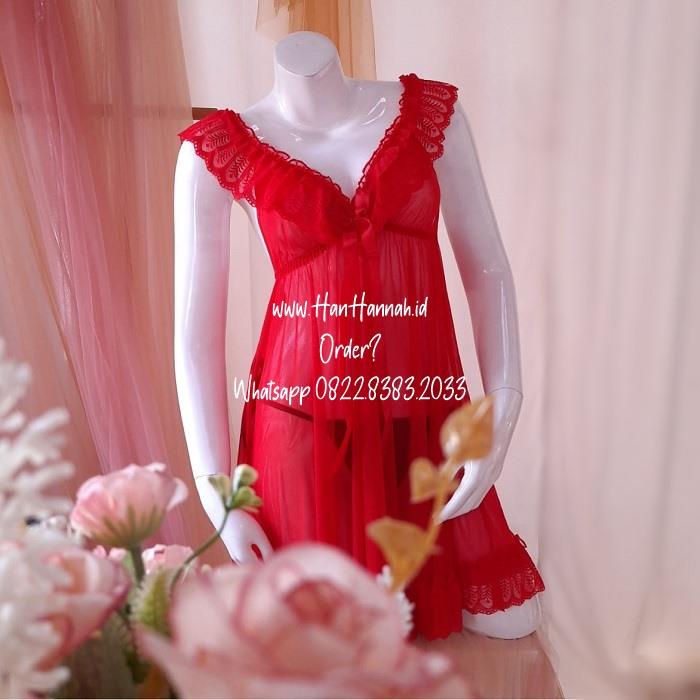 Premium M-XXXL, ALONA Red Sleepwear Set