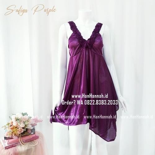 Silk Sleepwear S-M Safiya Purple Sleepwear