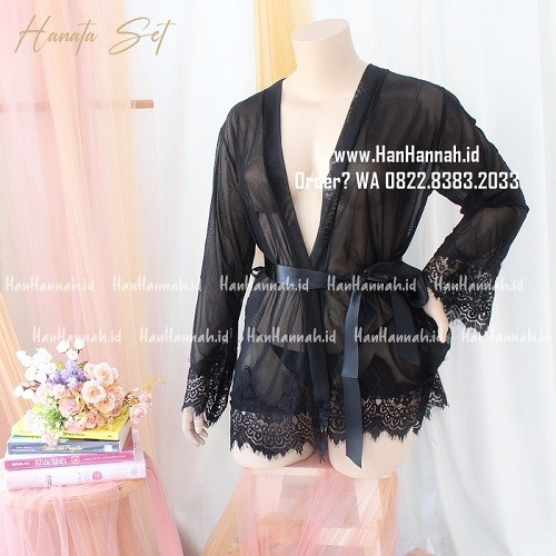 Lingerie XXL-XXXL, HANATA KIMONO Sleepwear Set