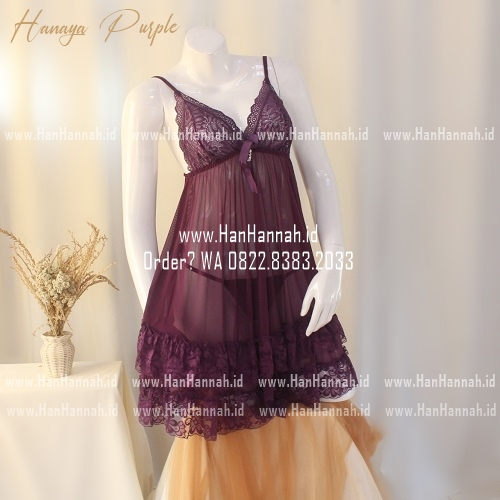 Premium M-XXXL, HANAYA Purple Sleepwear Set