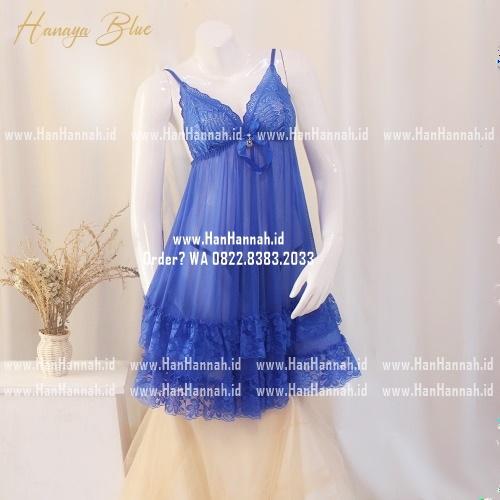 Premium M-XXXL HANAYA Blue Sleepwear Set