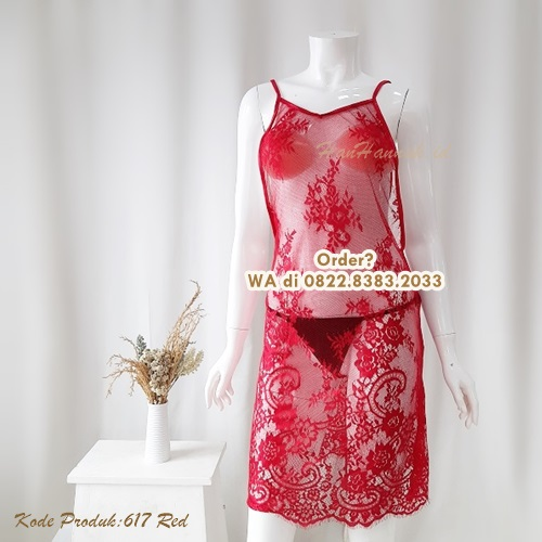 [BISA COD] Sexy Lingerie Kode: 617 Red