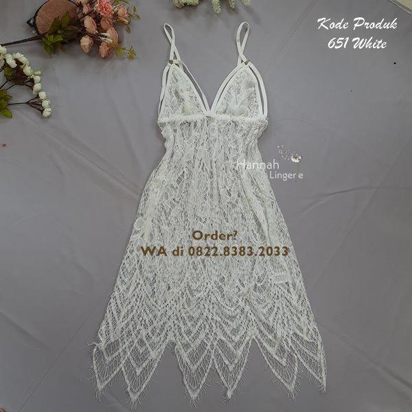 [BISA COD] Sexy Lingerie Kode: 651 White