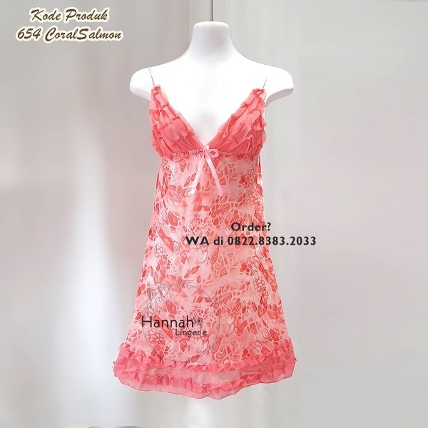 [BISA COD] Sexy Lingerie Kode: 654 CoralSalmon